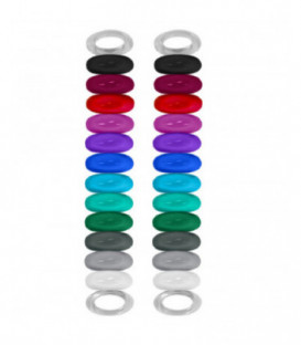 Charakteristické gumičky na sklenice - 24ks
